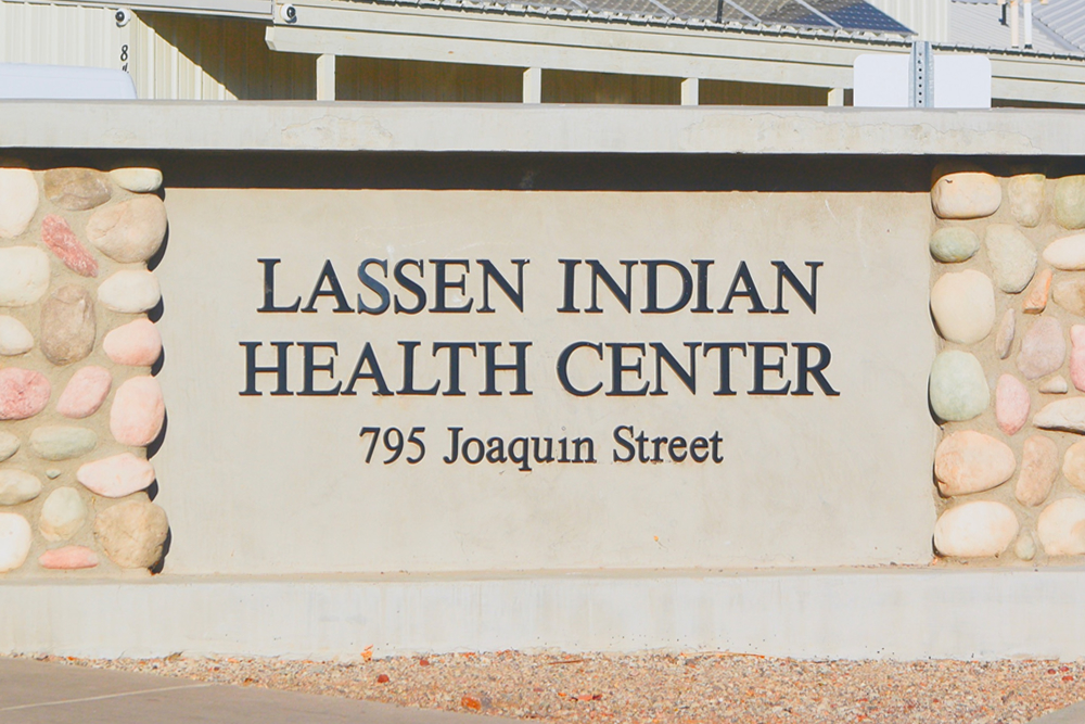 Lassen Indian Health Center Sign